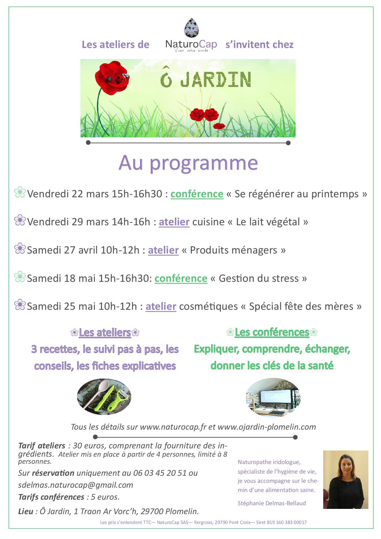 Ateliers Et Conferences De Naturopathie Par Naturocap Dans Le